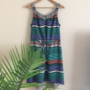merona • striped hi low dress